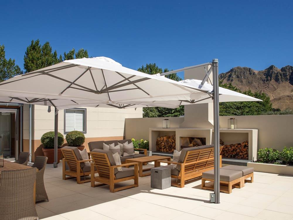 Multi Canopy Cantilever Umbrella