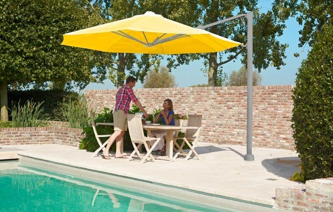Why go for a corner mounted cantilever umbrella