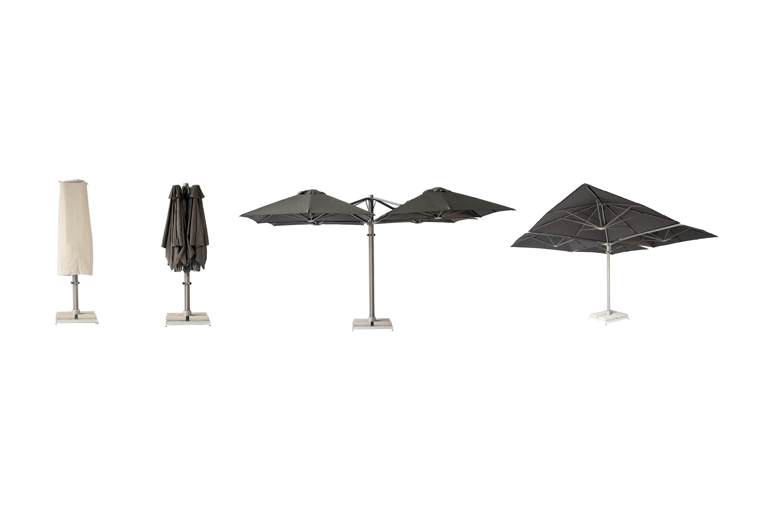 Multi-Canopy Cantilever Umbrella