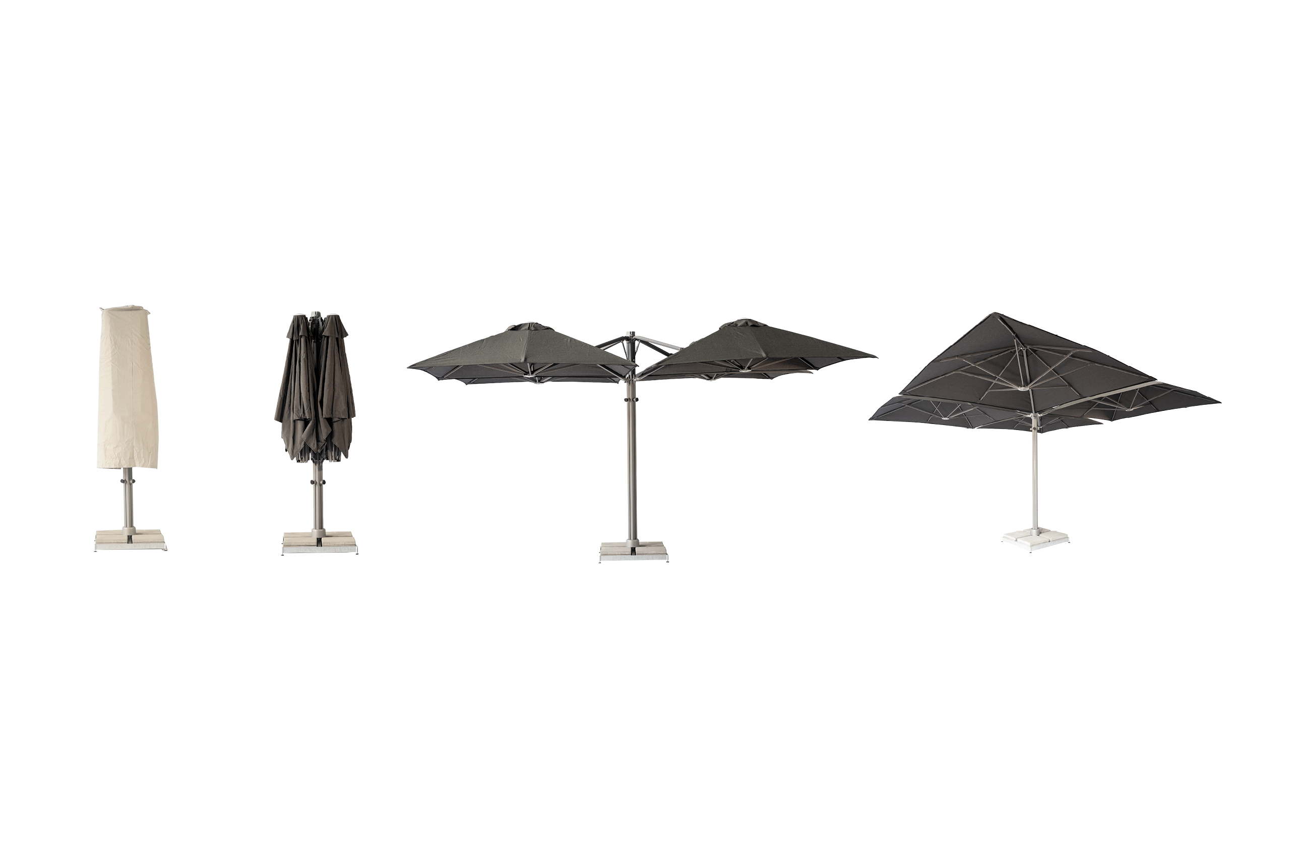 Multi-Canopy Cantilever Umbrella